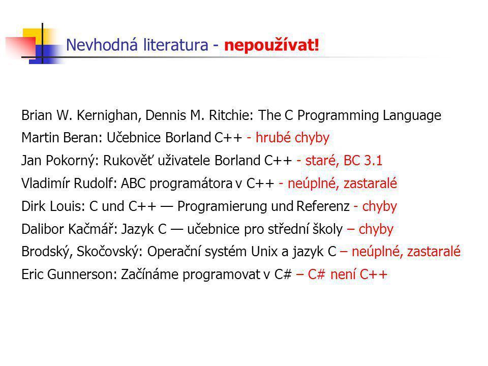 Polymorfní datové struktury - kostra tříd class Seznam { public: void append( AbstractNum *p); void print(); Seznam(); ~Seznam(); private: enum { MAX = 100 }; AbstractNum* pole[MAX]; int n; }; int main(int argc, char** argv){ Seznam s; s.append( new....