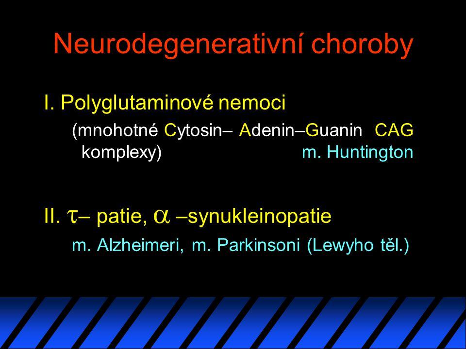 Neurodegenerativní choroby I.