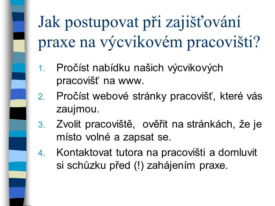 Jak postupovat…II.5. Stáhnout a vytisknout smlouvu o praxi z www (3x) 6.