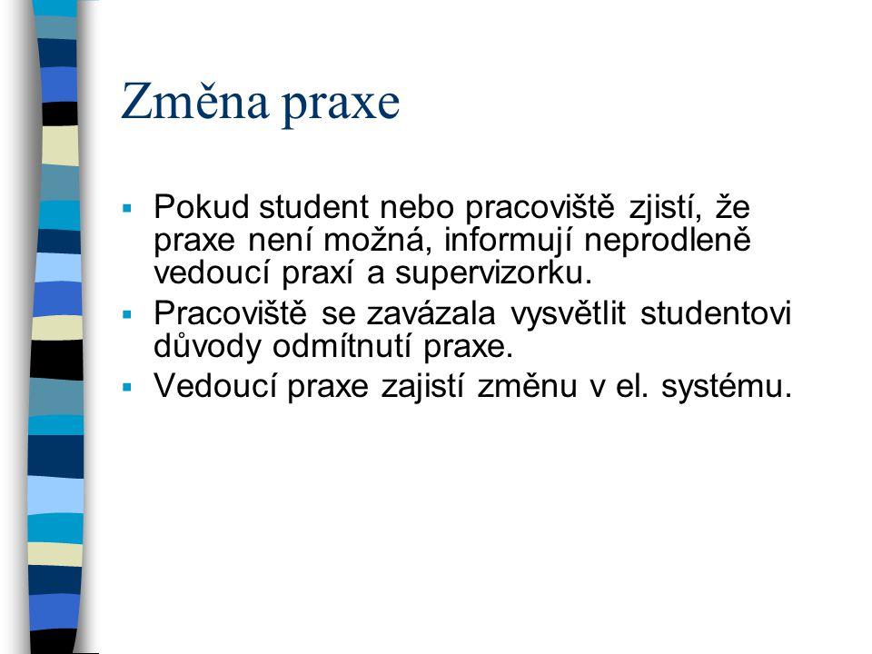 1.ročník Odborná praxe  6-7 jednodenních exkurzích za semestr.