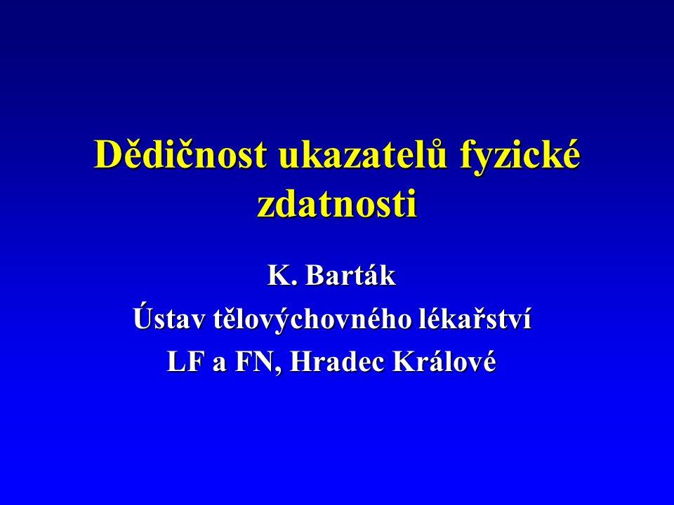 Dědičnost ukazatelů fyzické zdatnosti K.