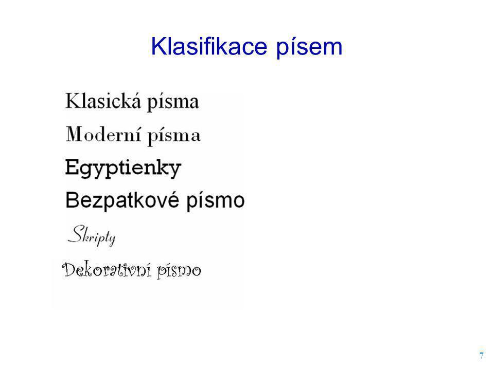 Klasifikace písem 7