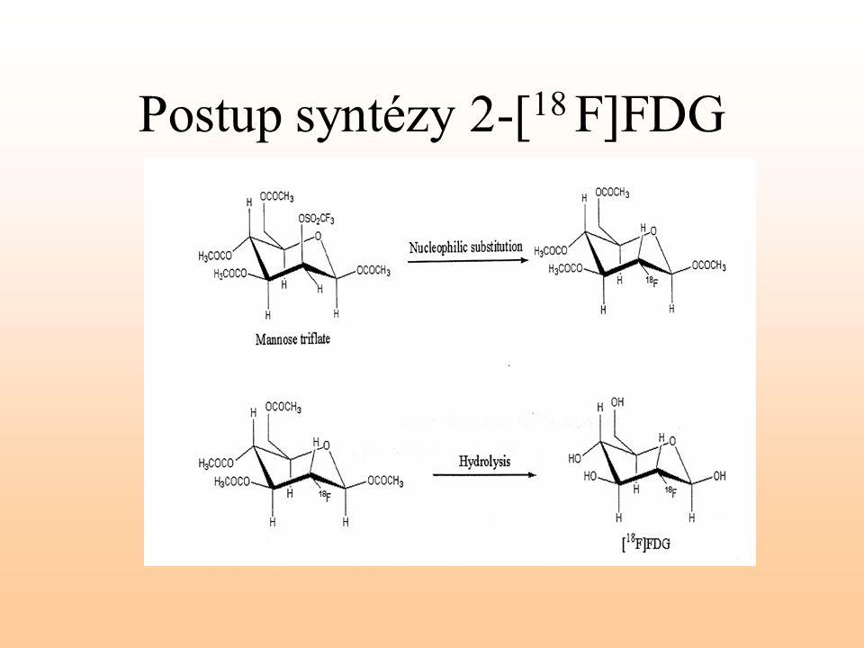 Postup syntézy 2-[ 18 F]FDG