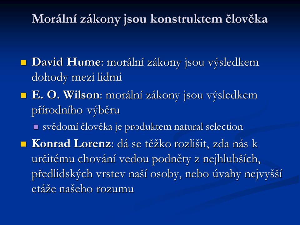 Morální zákony jsou konstruktem člověka David Hume: morální zákony jsou výsledkem dohody mezi lidmi David Hume: morální zákony jsou výsledkem dohody m