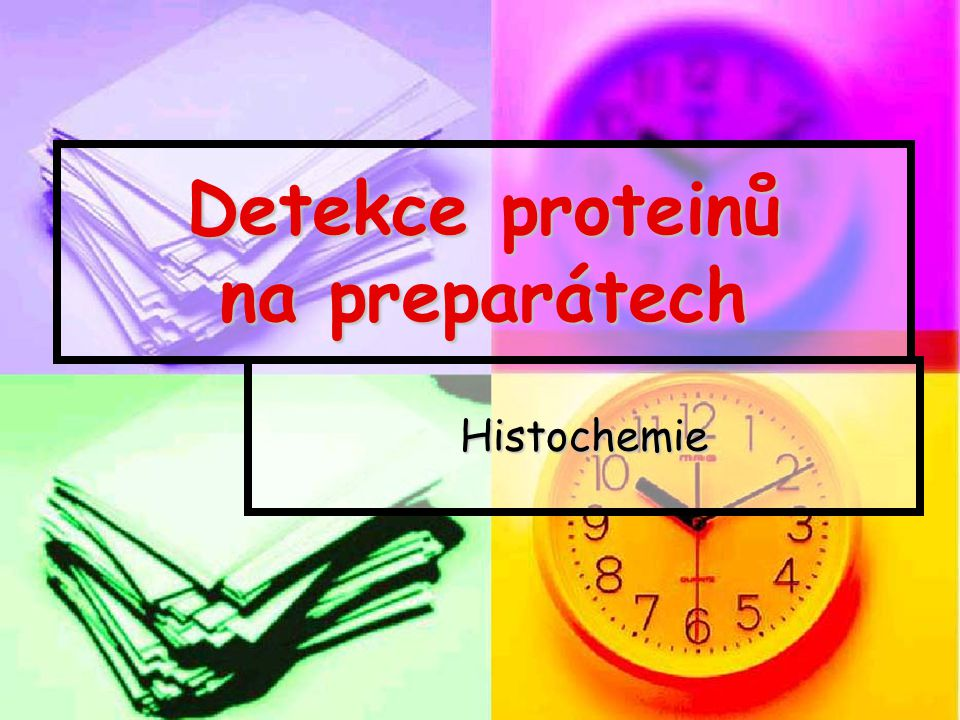 Metody detekce – vazba cílového proteinu Imunologické; primární protilátky sekundární protilátky Imunologické; primární protilátky sekundární protilátky Malé molekuly; molekuly vážící náš cílový protein Malé molekuly; molekuly vážící náš cílový protein Proteiny; proteiny s interakcí s cílovým proteinem Proteiny; proteiny s interakcí s cílovým proteinem