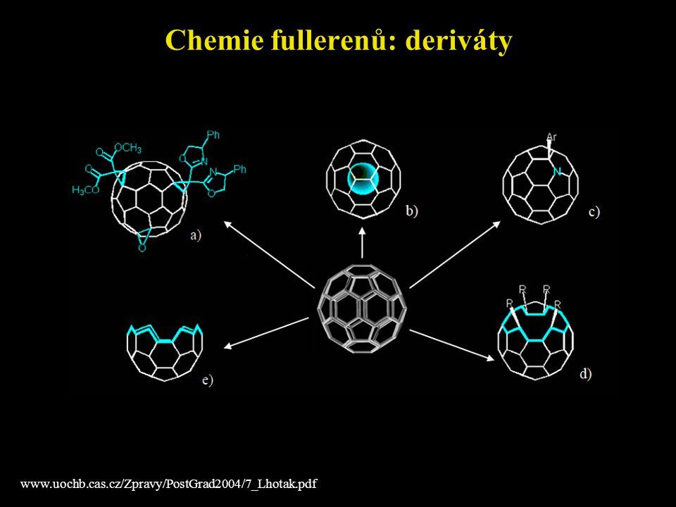 Chemie fullerenů: deriváty www.uochb.cas.cz/Zpravy/PostGrad2004/7_Lhotak.pdf