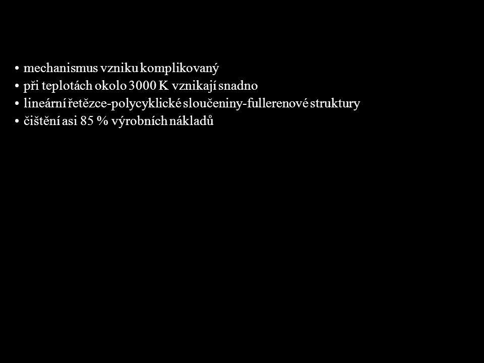 Obrázek: Čištění surových fullerenových sazí www.uochb.cas.cz/Zpravy/PostGrad2004/7_Lhotak.pdf