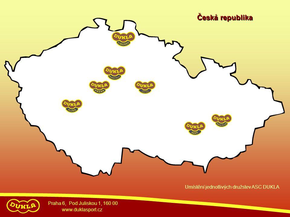 Praha 6, Pod Juliskou 1, 160 00 www.duklasport.cz Umístění jednotlivých družstev ASC DUKLA Česká republika