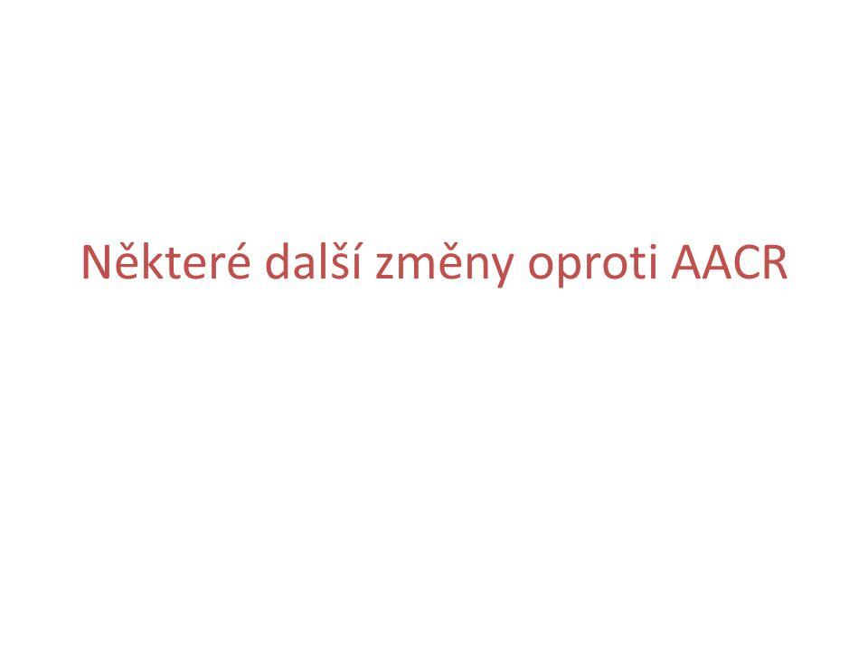 Některé další změny oproti AACR