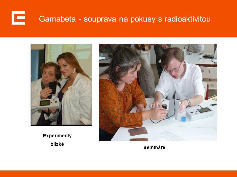 Gamabeta - souprava na pokusy s radioaktivitou Experimenty blízké Semináře