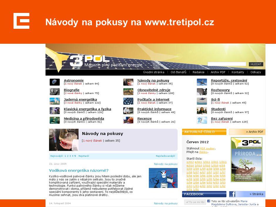 Návody na pokusy na www.tretipol.cz
