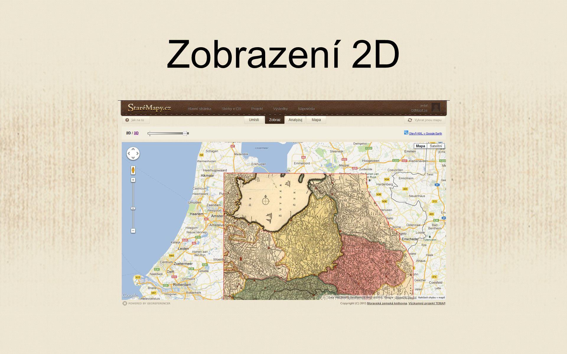 Zobrazení 2D
