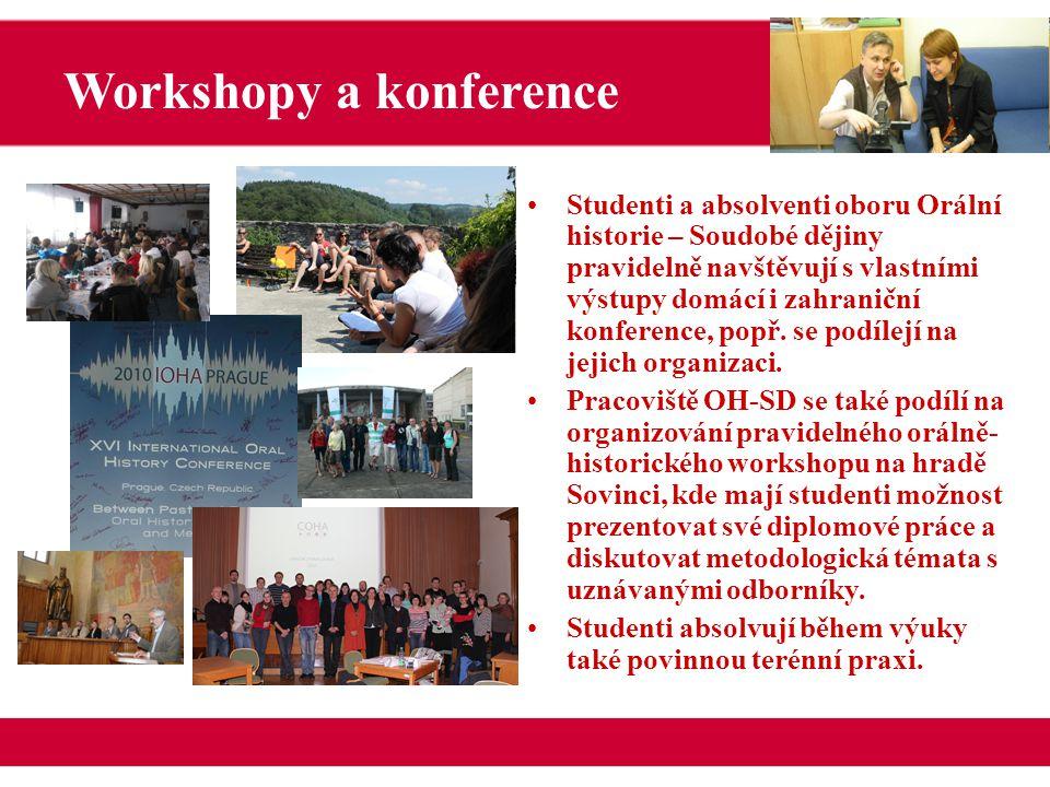 Studenti a absolventi oboru Orální historie – Soudobé dějiny pravidelně navštěvují s vlastními výstupy domácí i zahraniční konference, popř.