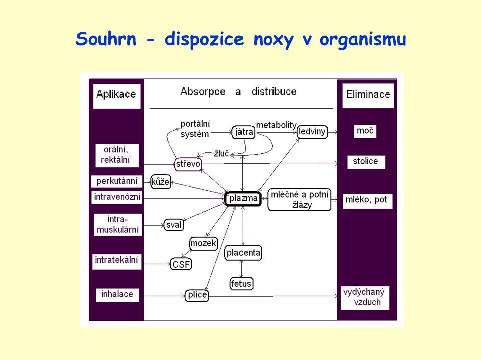 Souhrn - dispozice noxy v organismu