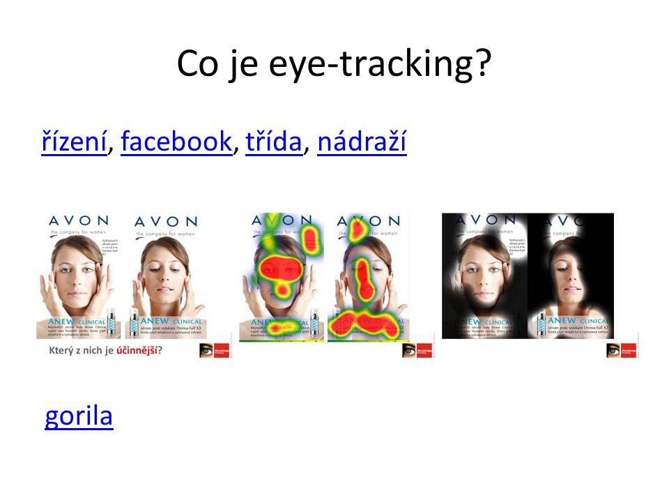 Co je eye-tracking? řízenířízení, facebook, třída, nádražífacebooktřídanádraží gorila