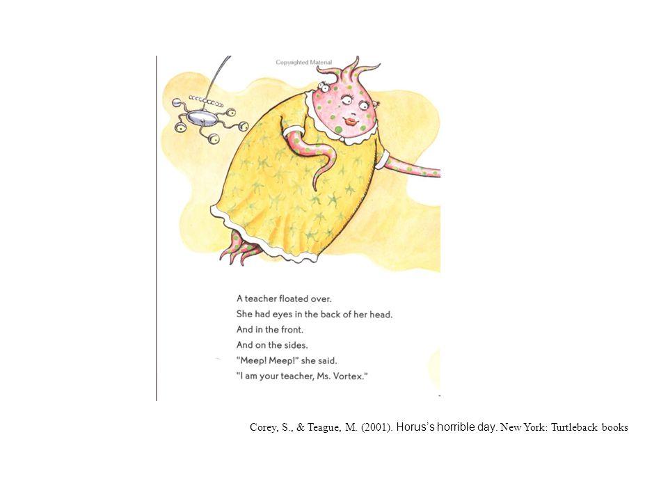 Corey, S., & Teague, M. (2001). Horus's horrible day. New York: Turtleback books