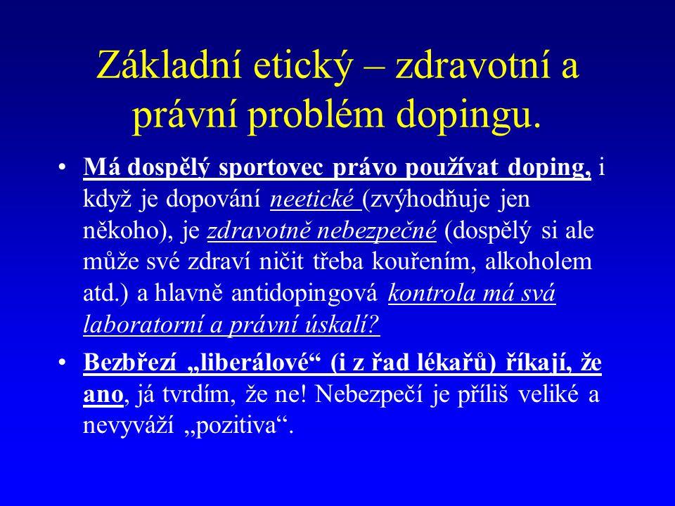 Podrobné informace o dopingu Antidopingový výbor:http://www.antidoping.czAntidopingový výbor:http://www.antidoping.czhttp://www.antidoping.cz Tam naleznete:Tam naleznete: Strukturu organizaceStrukturu organizace Seznam zakázaných lékůSeznam zakázaných léků Osvětové materiályOsvětové materiály Dokumenty (Evropská antidopingová úmluva, Česká charta proti dopingu, Směrnice pro kontrolu a postih ve sportuDokumenty (Evropská antidopingová úmluva, Česká charta proti dopingu, Směrnice pro kontrolu a postih ve sportu StatistikuStatistiku Zprávy, aktualityZprávy, aktuality