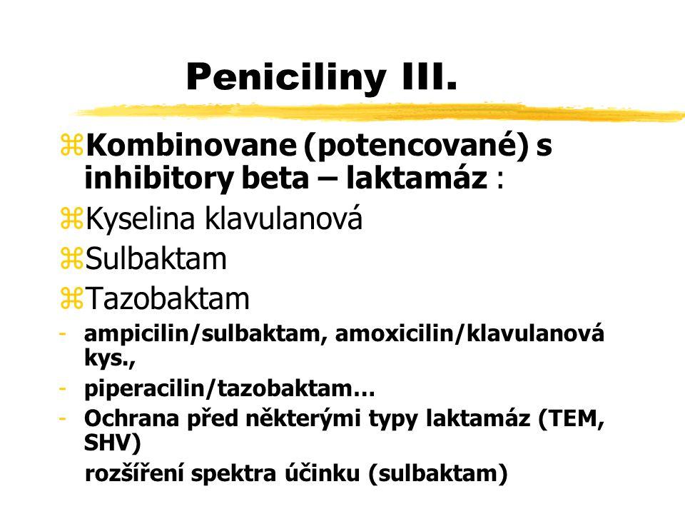 Peniciliny III.