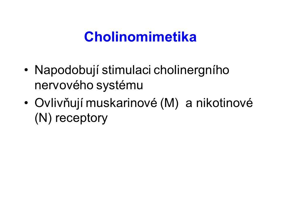 Muskarinové a nikotinové (cholinergní) receptory N
