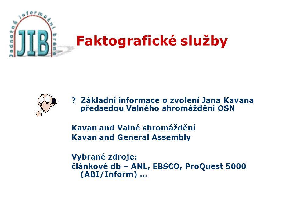 Faktografické služby .