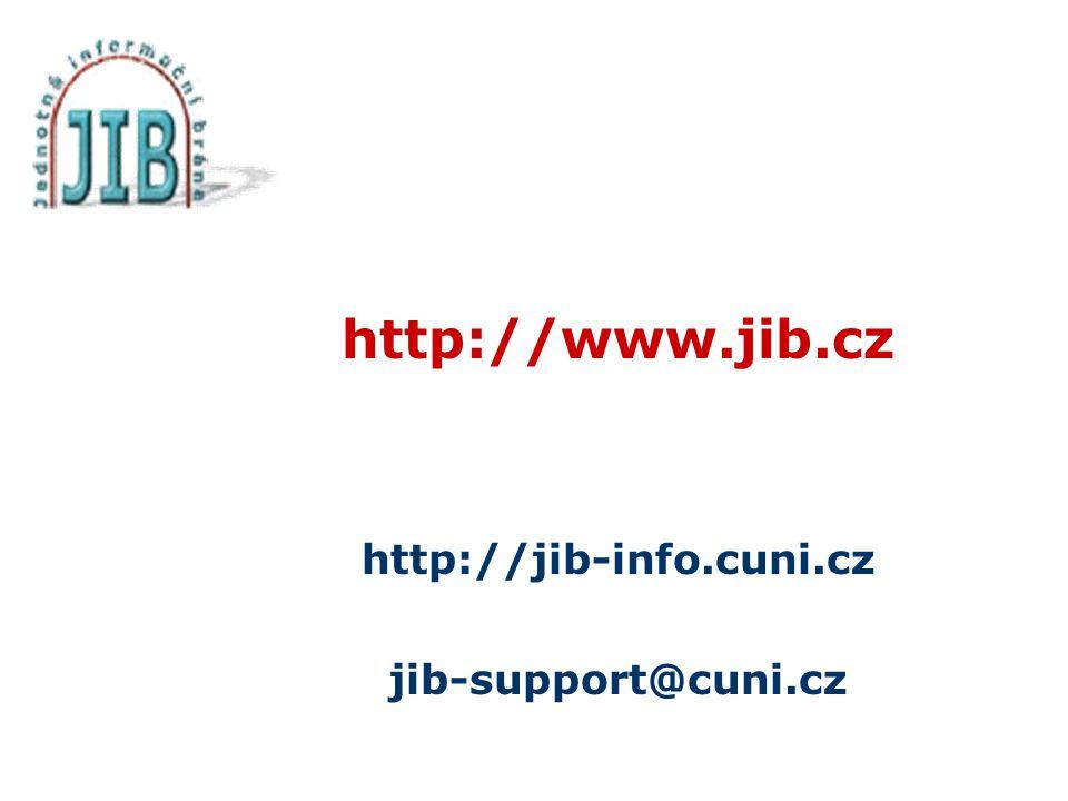 http://www.jib.cz http://jib-info.cuni.cz jib-support@cuni.cz
