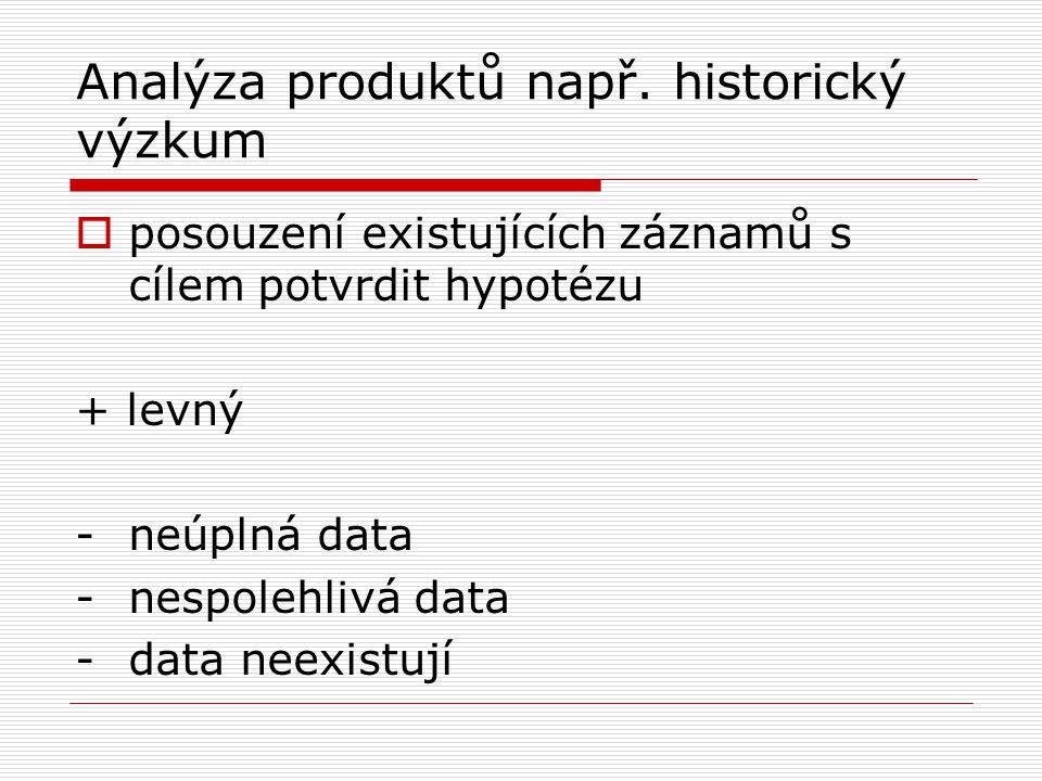 Analýza produktů např.