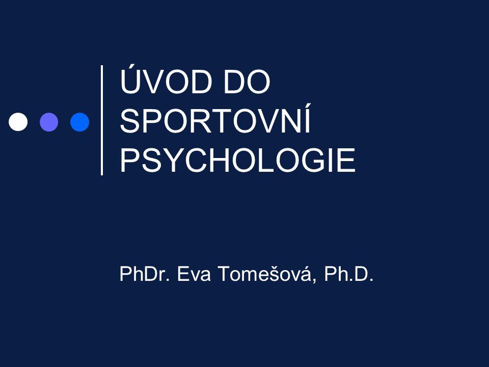 ÚVOD DO SPORTOVNÍ PSYCHOLOGIE PhDr. Eva Tomešová, Ph.D.