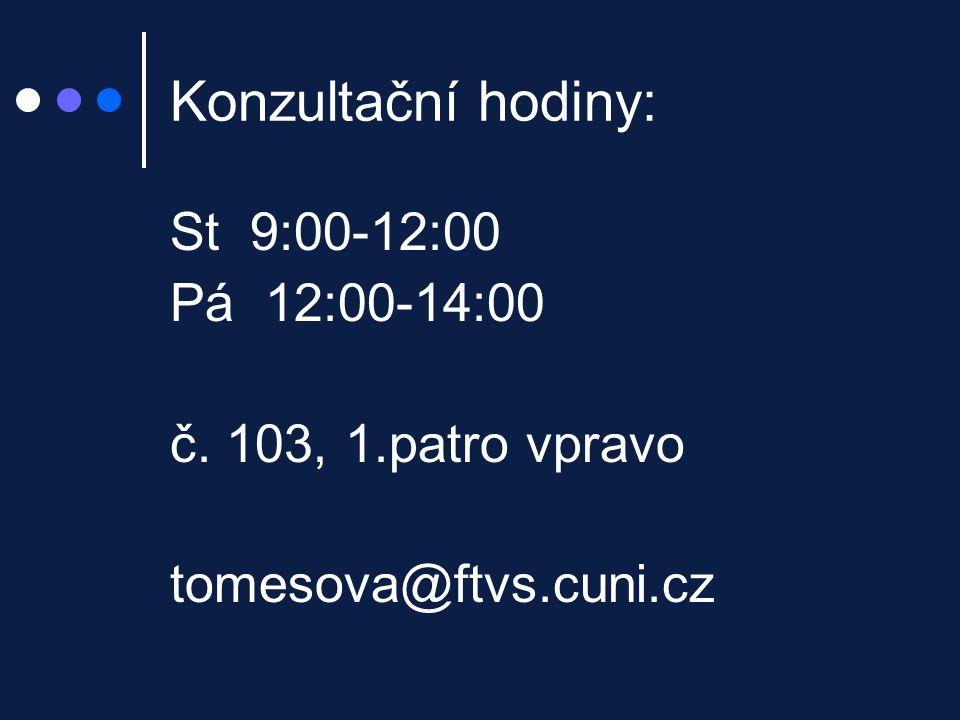 Literatura: ATKINSON a kol.(2003) Psychologie. Praha: Portál HOGG J.M.
