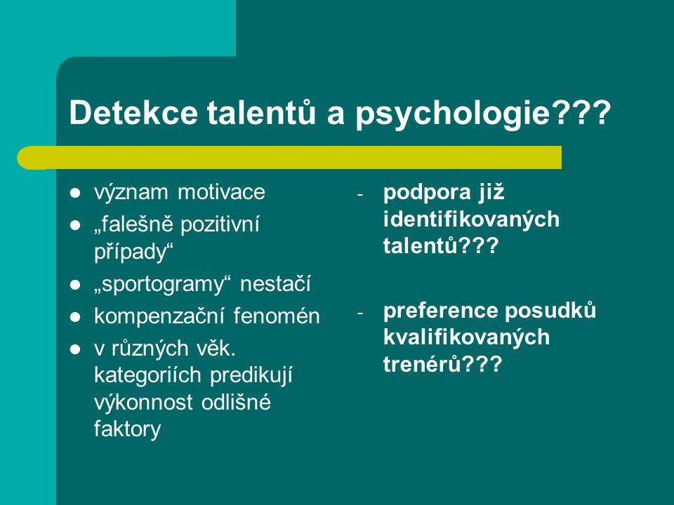 Detekce talentů a psychologie??.