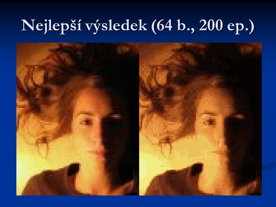 1 epocha200 epoch 16 barev 4 barvy 27 barev 64 barev 256 b.