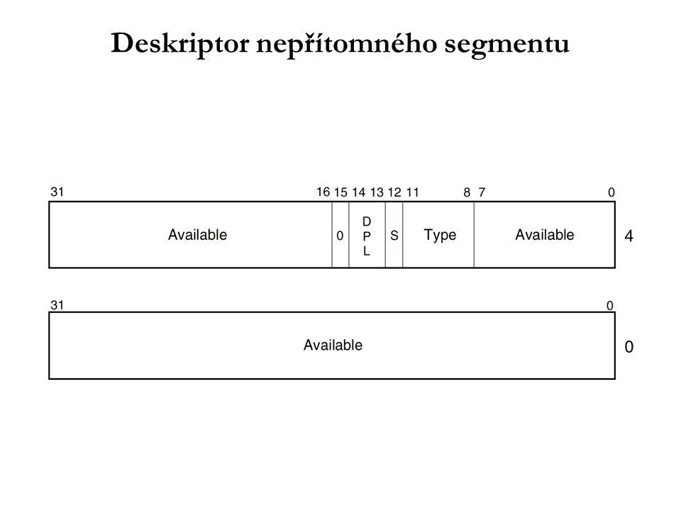 Deskriptor nepřítomného segmentu