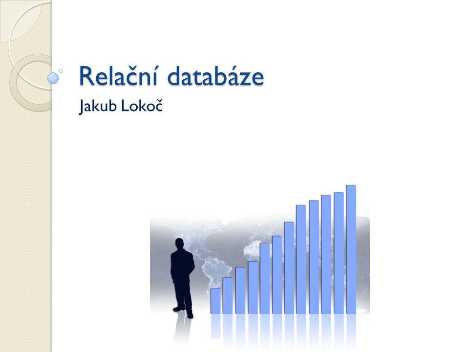 Rekapitulace ZS Proč a jak vzniká relační datový model.