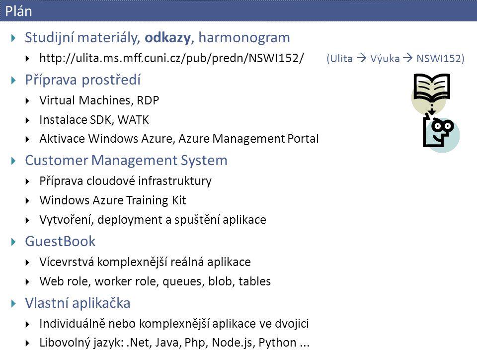 Příprava prostředí a aktivace  Virtual Machines  VMware vSphere Client  bobr.ms.mff.cuni.cz  login: cloud_xx  Grupíček  pwd: v Grupíčku  vSphere Web client  https://bobr.ms.mff.cuni.cz/vsphere-client  [VCenter] VM: BOBR / VIRTLAB / Cloud / Students / cloud_xx  login: administrator pwd: v Grupíčku  nastavena IP 10.2.1.xx  ověřit.