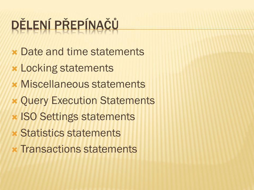  Mějme tabulku test se dvěma sloupci:  ID Int primary key,Nazev nchar(10) NULL.