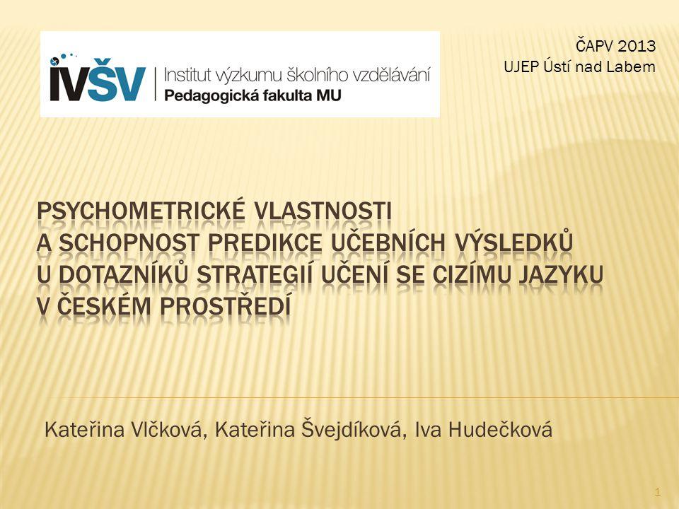 Kateřina Vlčková, Kateřina Švejdíková, Iva Hudečková ČAPV 2013 UJEP Ústí nad Labem 1