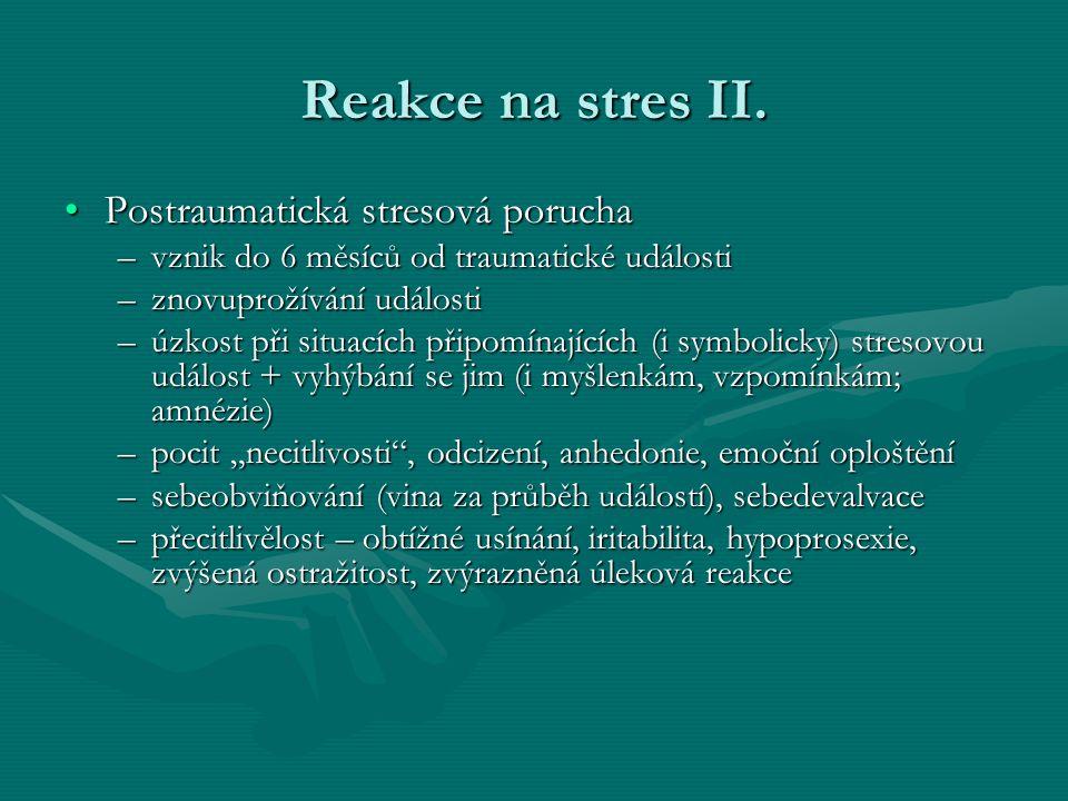 Reakce na stres II.