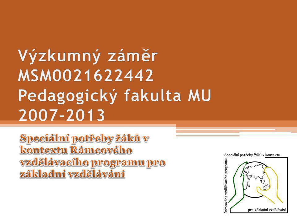 Prezentace na Vědecké radě Pedagogické fakulty MU 18. ledna 2011