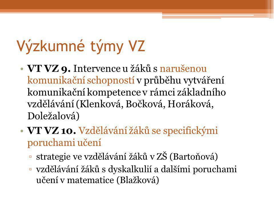 Výzkumné týmy VZ VT VZ 9.