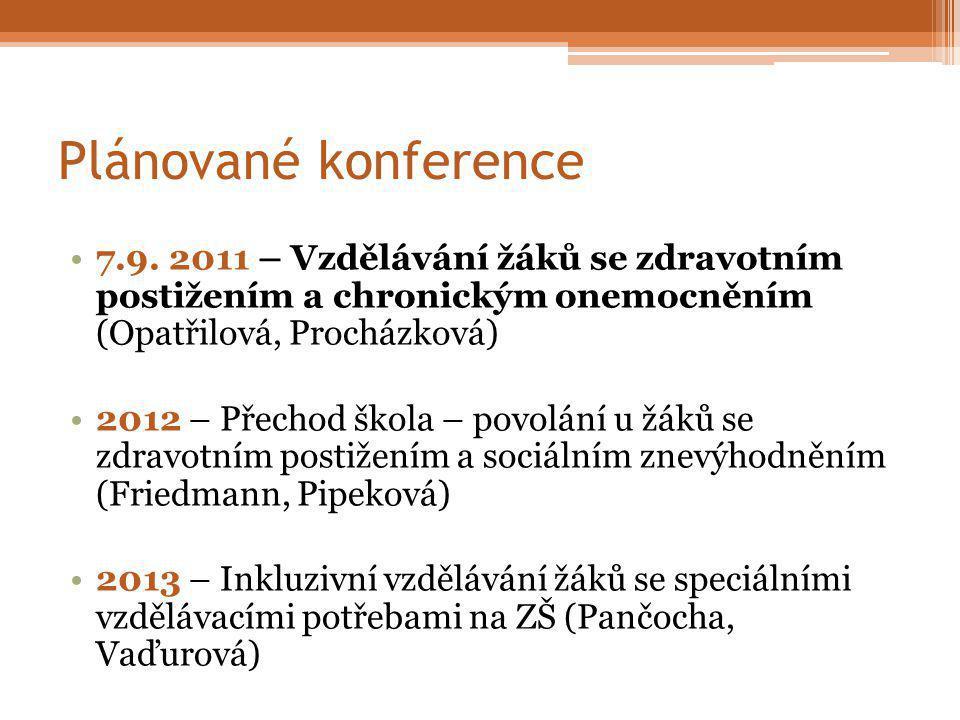 Plánované konference 7.9.