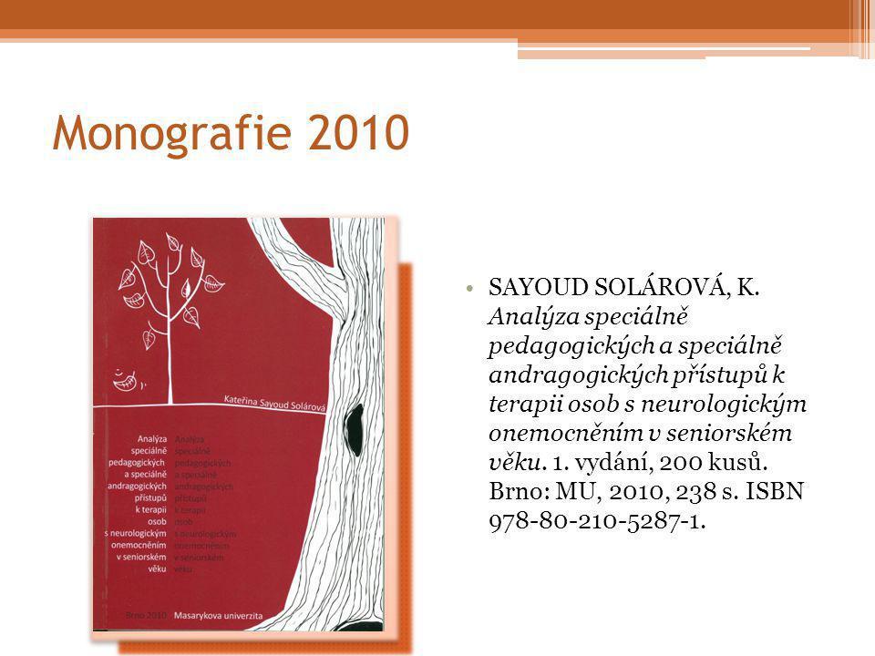 Monografie 2010 SAYOUD SOLÁROVÁ, K.