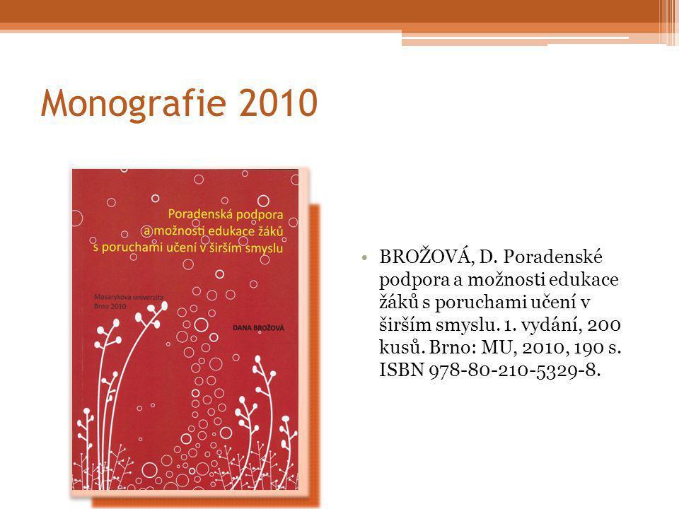 Monografie 2010 BROŽOVÁ, D.