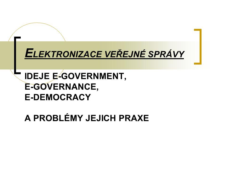 2 Struktura přednášky 1.Cíle přednášky 2. Teoretická východiska elektronizace veřejné správy 3.