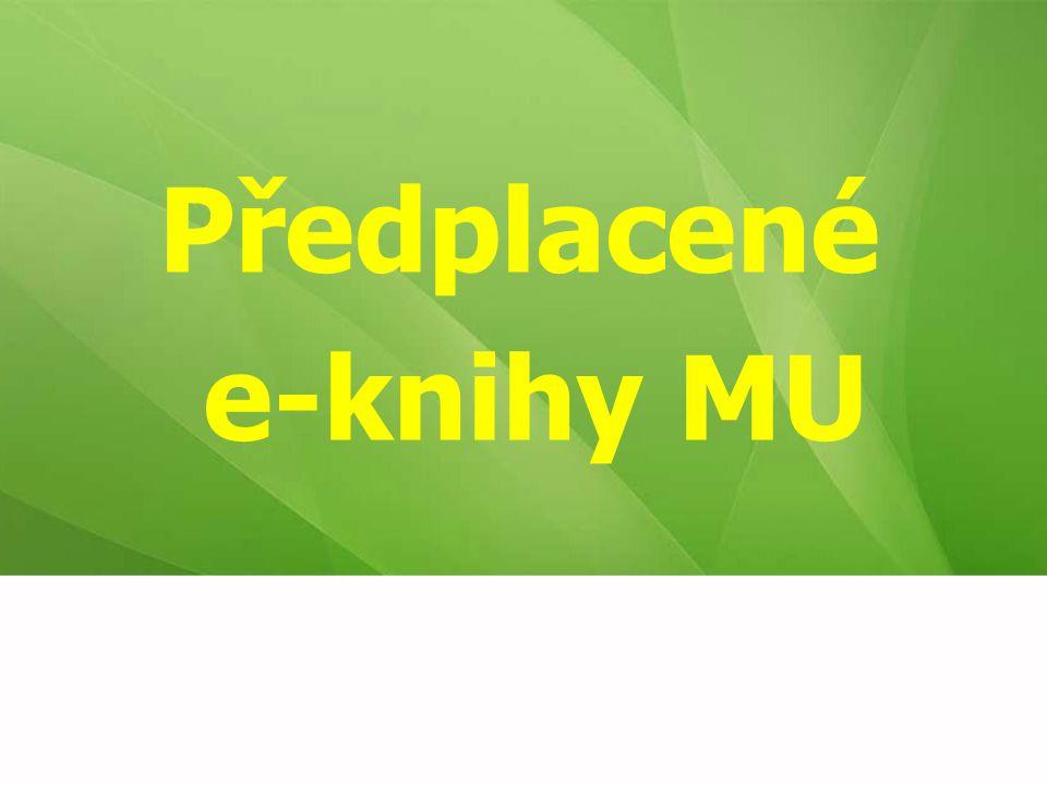 Předplacené e-knihy MU