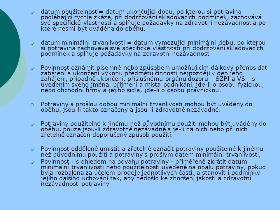 """""""Hluk z provozoven služeb a hluk z veřejné produkce hudby (například koncert, taneční zábava, artistická produkce s hudbou) nesmí překročit hygienické limity upravené prováděcím právním předpisem pro chráněné prostory  Nakládání s nebezpečnými chemickými látkami a chemickými přípravky  Ochranná dezinfekce, dezinsekce a deratizace  Práva a výkon orgánů v rámci zákona (např."""