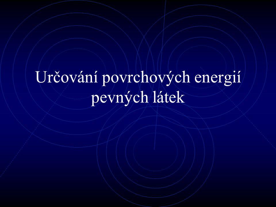 Fowkesova teorie Je základem pro všechny moderní modely, bere v úvahu všechny síly které působí mezi kapalinou a pevnou látkou.