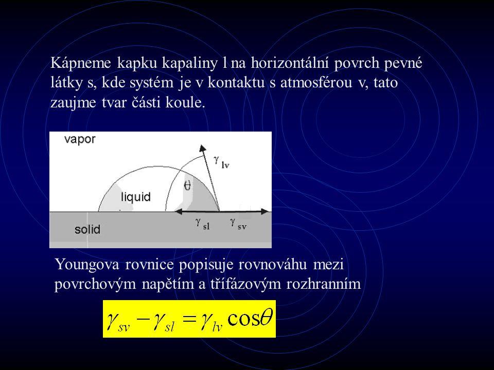 Wuova teorie Wu odvodil metodu kombinující harmoniký a geometrický průměr: Kombinací s Young- Dupre rovnicí dostaneme: Tato teorie je použitelná pro vysoce energetické povrchy (oxidy, kovy, grafit apod.)