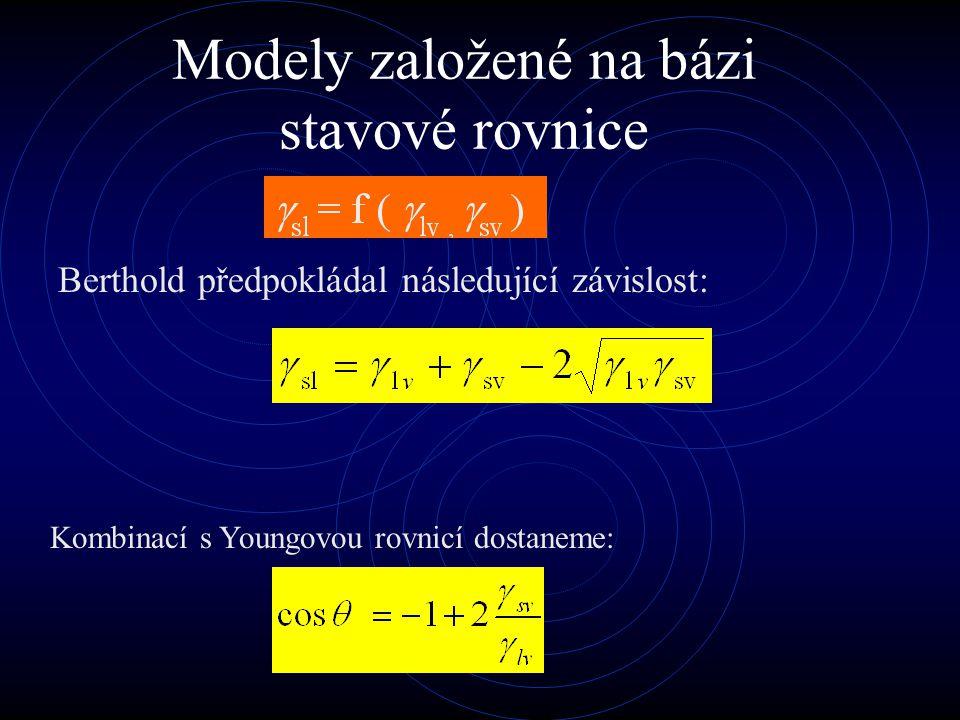 Ward a Neuman termodynamicky prokázali existenci stavové rovnice.