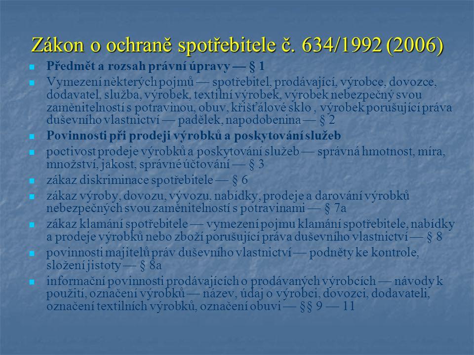 Zákon o ochraně spotřebitele č.