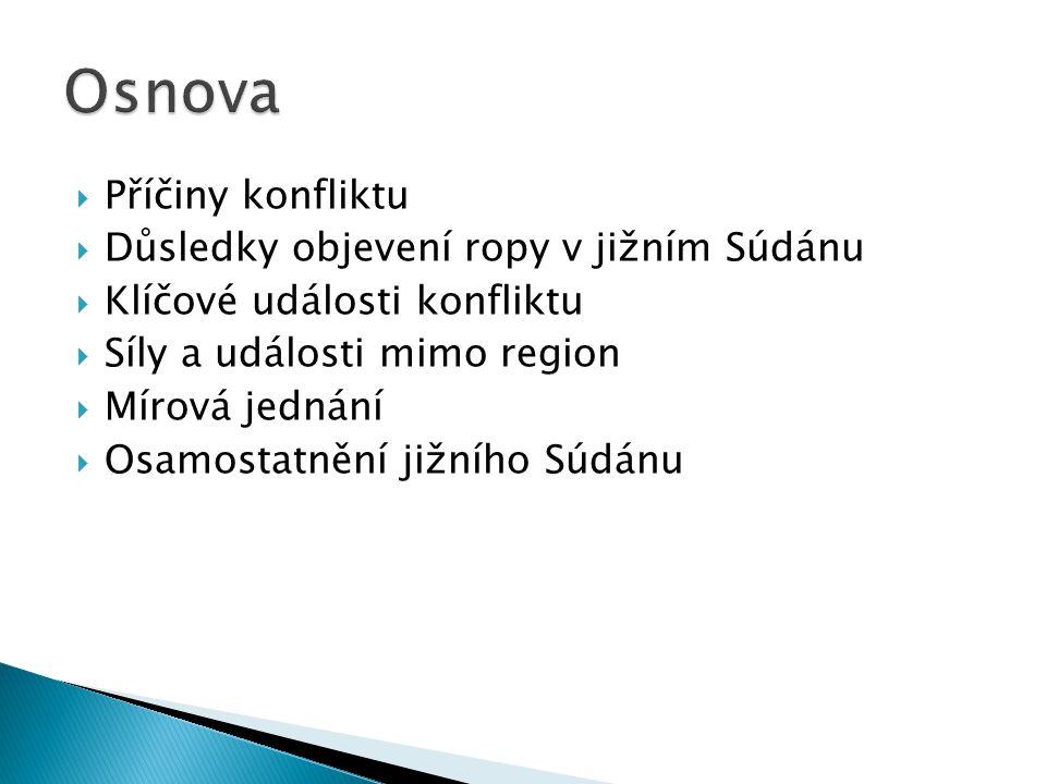 Obr. 1. Poloha Súdánu a Jižního Súdánu (zdroj: KRYNEK, 2001)