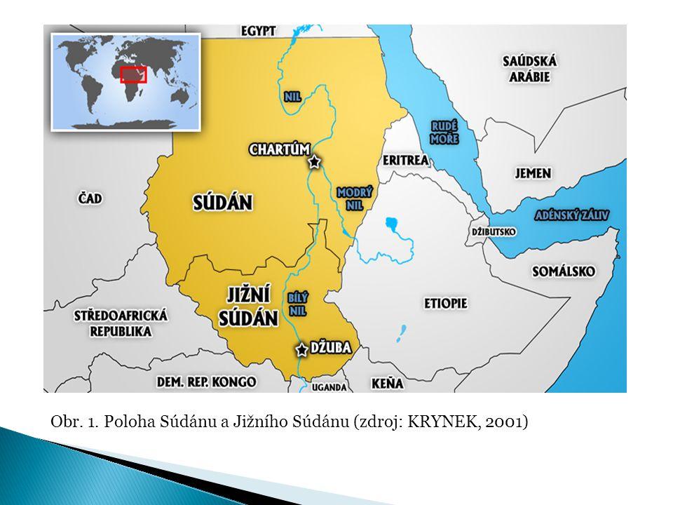 Snaha o emancipaci jižního Súdánu  Střet 2 světů: ◦ Arabsko-muslimský sever versus křesťansko- animistický jih  Historické příčiny: ◦ Obchod s černošskými otroky ◦ kolonialismus (Britové, Egypťané)  Rozdílná koloniální správa severu a jihu (rozdílný přístup ke vzdělávání, rozdílný hospodářský vývoj)  Zvýhodňování některých etnik na úkor jiných => zvýšení napětí mezi etniky  Ekonomické příčiny: ◦ Zásoby ropy ◦ Voda z Nilu